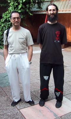 Con Sifu Leung Ting (Livorno, Private Seminar, 2002)